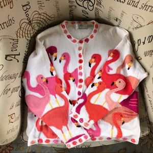 1990's AWESOME vintage flamingo cardigan